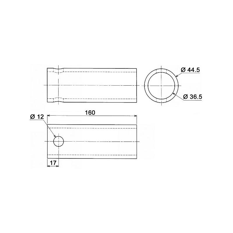 douille 36 5x44 5x160 trou d12 0450550 54 58. Black Bedroom Furniture Sets. Home Design Ideas