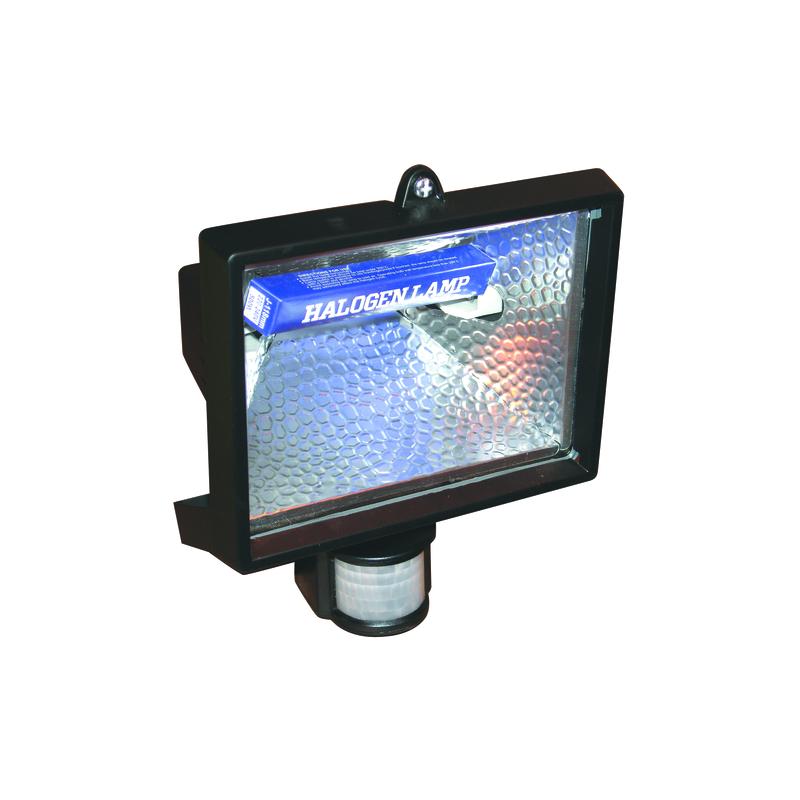 projecteur halogene mural 500 watts avec detecteur 180dnoir