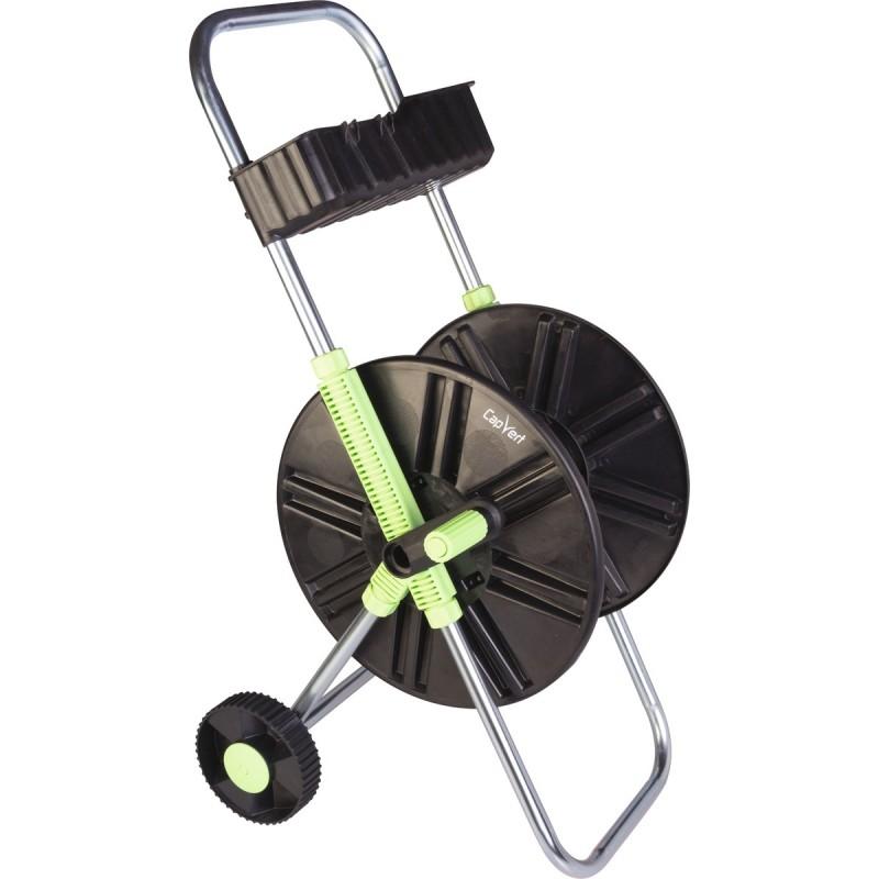 Dévidoir ABS de tuyau sur roues avec clayette