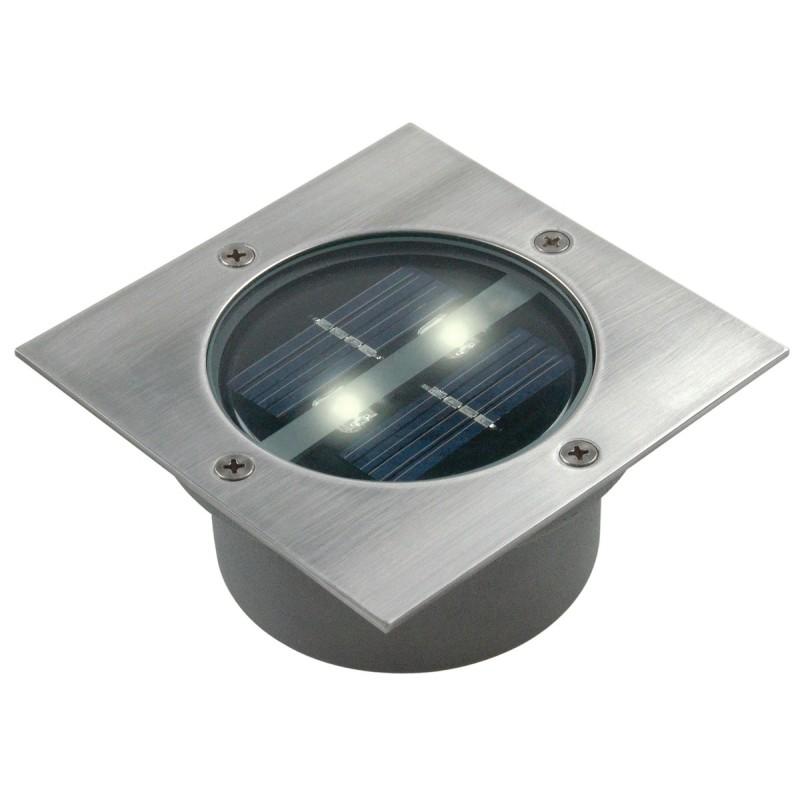 Spot carre 2 LED solaire encastrable