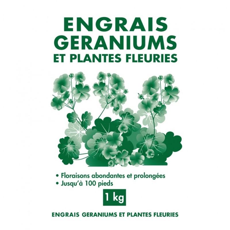 Engrais géraniums et plantes fleuries granules