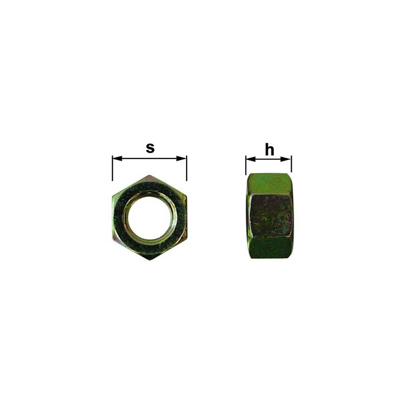 ECROUS DIA. 20 CL 8 BRUT ISO 4032 (25)