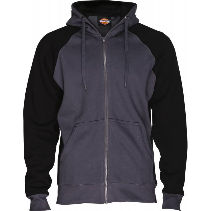 Sweat de travail zippe Two Tone - Capuche ajustable - Coton / Polyester