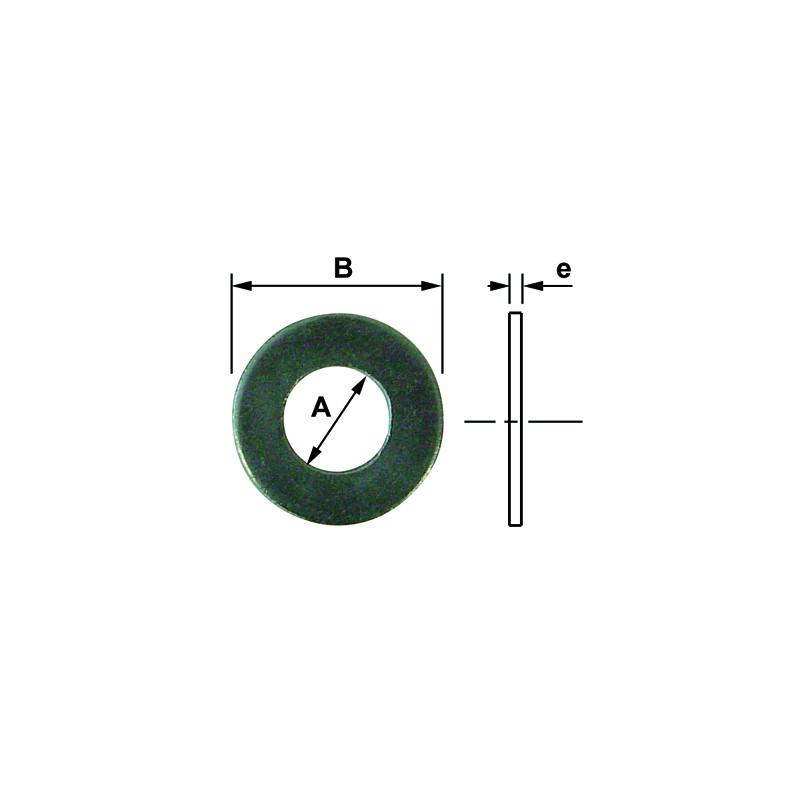 RONDEL. PLATE DIA 12 INOX A2 DIN 125 (50)