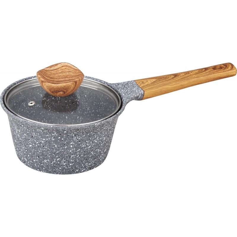 Casserole fonte aluminium avec couvercle verre Nordica