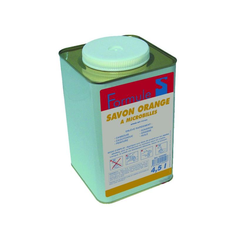 SAVON GEL MICROBILLE ORANGE SOFT BIDON 4,5L