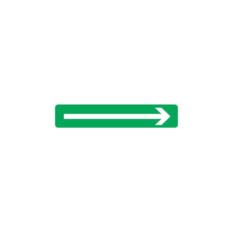 Etiquette de signalisation adhesive laterale