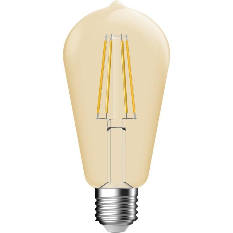 Ampoule LED decorative ambree a filament Edison E27
