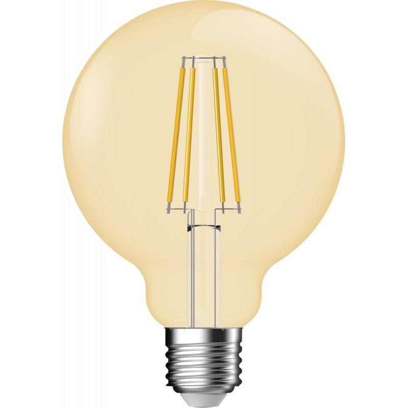 Ampoule LED globe ambree G95 filament E27