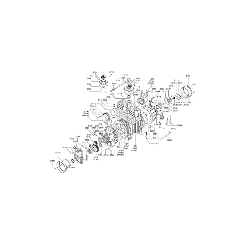 COMPRESS. STAR/M60 V-LA 10000 540TR/MN