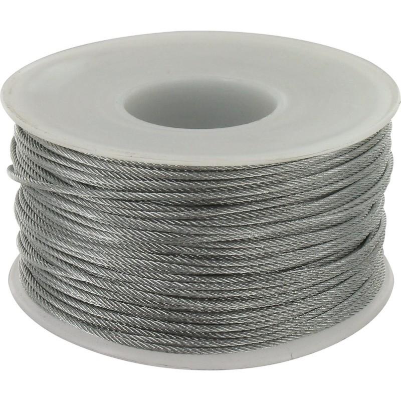 Cable acier galvanise ame textile