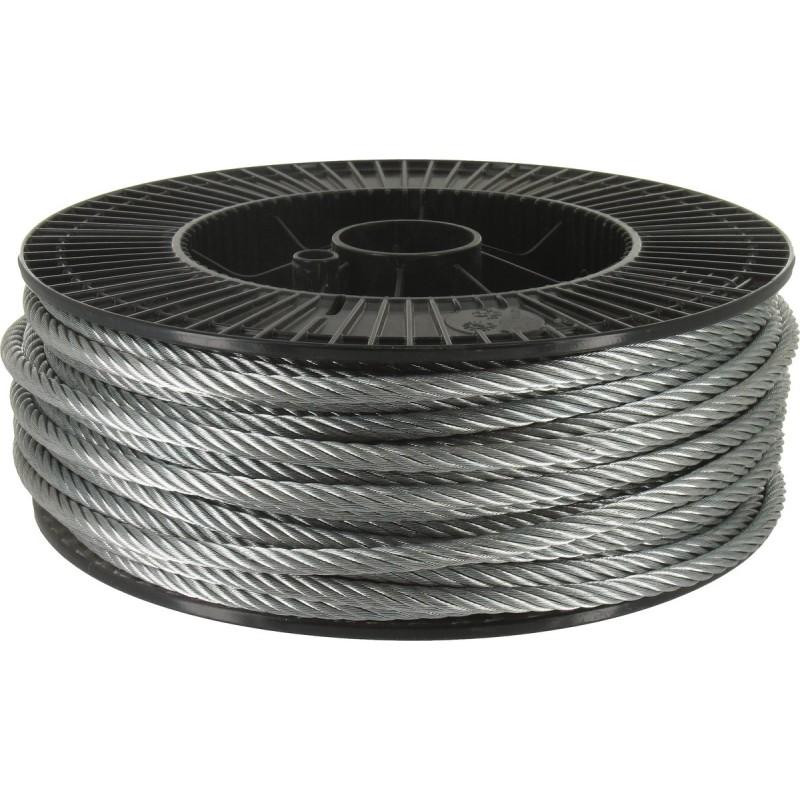 Cable acier galvanise 19 fils