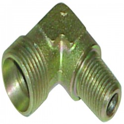 Raccord hydraulique coudé mâle-mâle CM12/08x13co nu