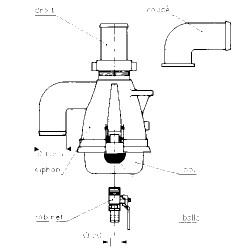 Bol à bride pour siphon diamètre 60 et 80 mm