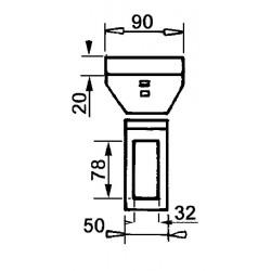 Pointe carbure droite / demblon 5185
