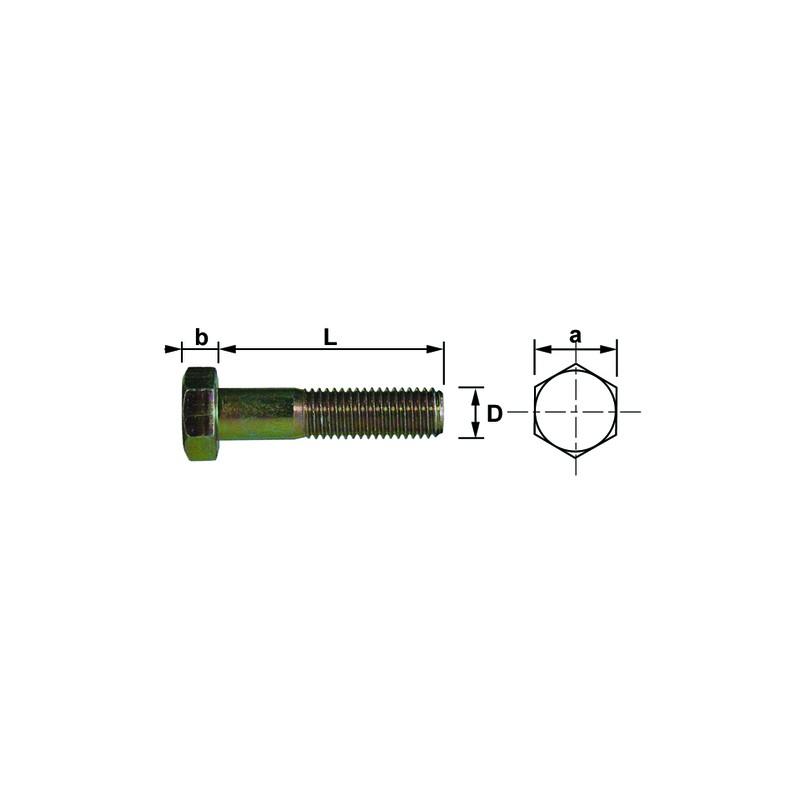 VIS T.H 8X 50 10.9 BRUT ISO4014 DIN931 (100)