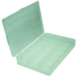 Boite de rangement transparente modulaire 4 à 12 casiers 28x18x4 cm
