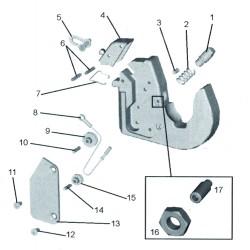 Capot / crochet inf. nouveau modèle catégorie 2 et 3