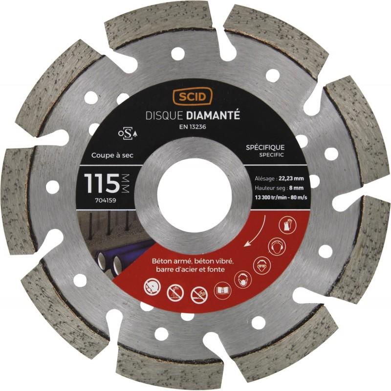 Disque professionnel ventile beton metal
