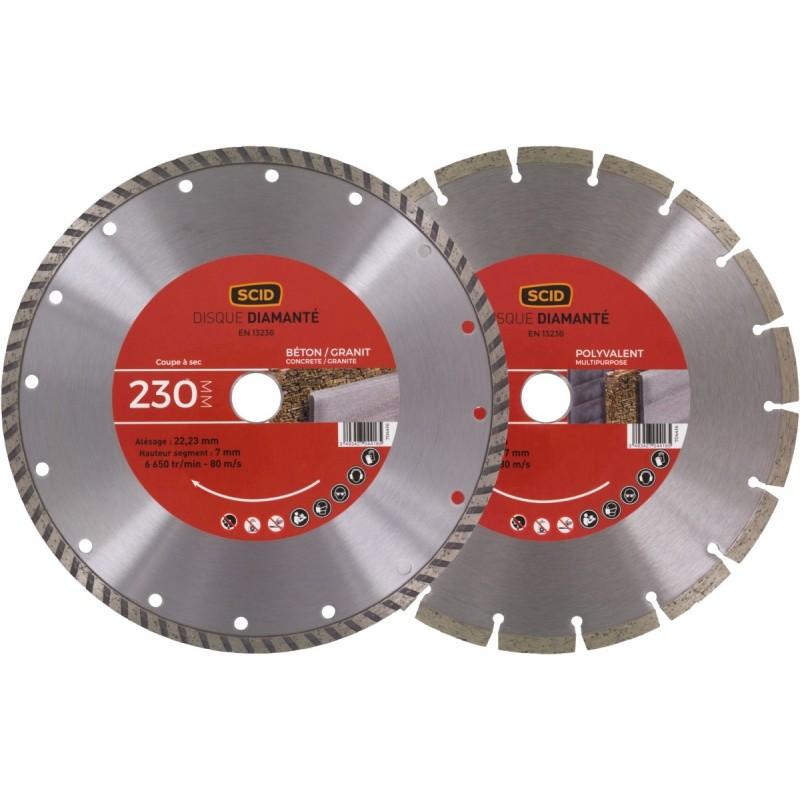 Lot de 2 disques materiaux standards