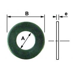 Rondelle plate inox A2 diamètre 8 mm din 125 (boite)