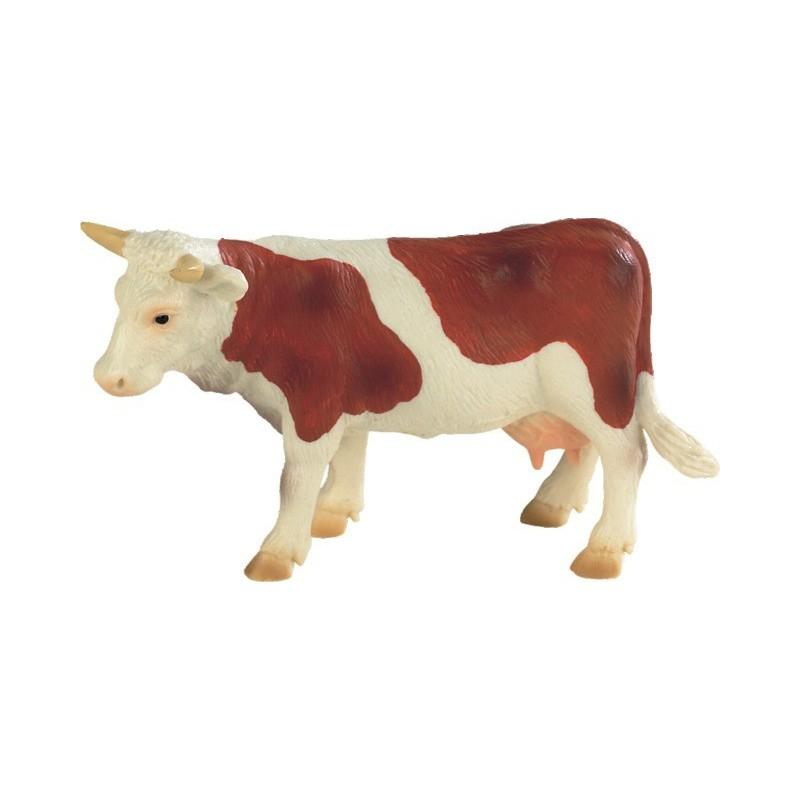 Vache marron et blanche B62610