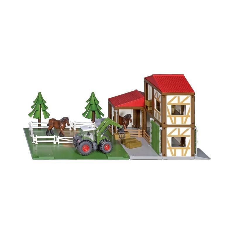 Stabulation avec un tracteur et deux chevaux 5609