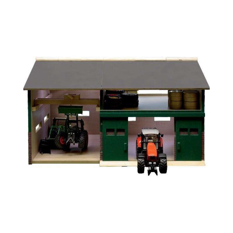 Hangar avec garage réparation en bois 6104410
