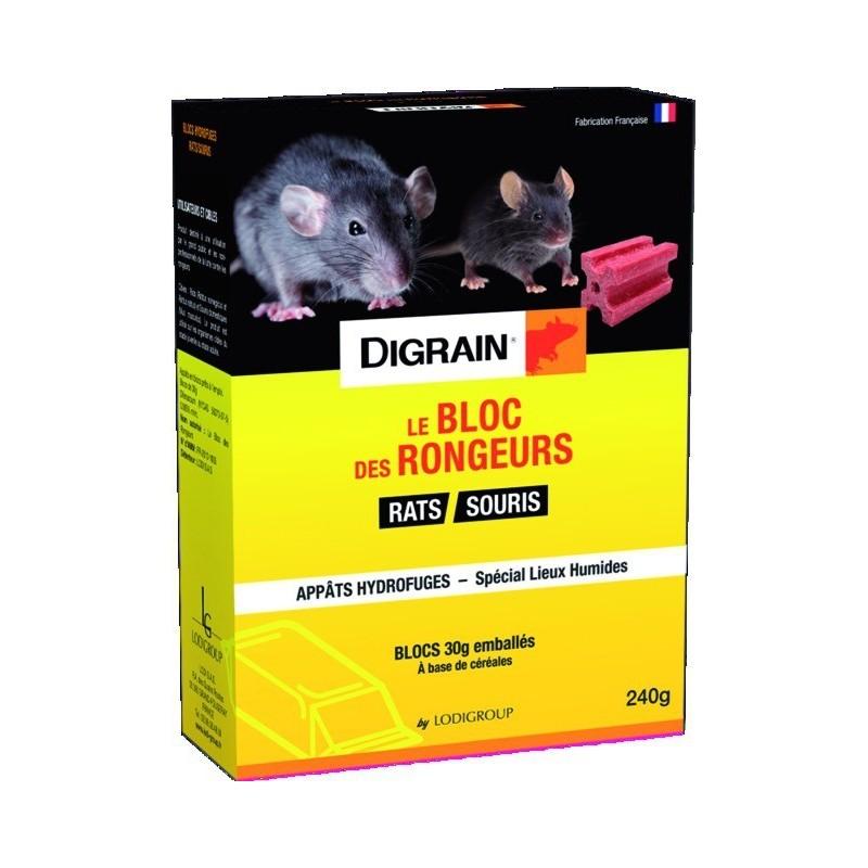 DIGRAIN LE BLOC DES RONGEURS 25 PPM - 240G