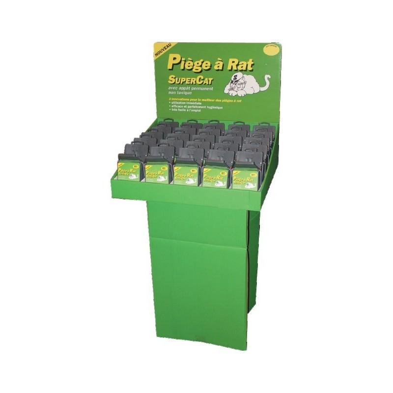 "PIEGE A RATS ""SUPERCAT"" PRESENTOIR DE 25 PCES"