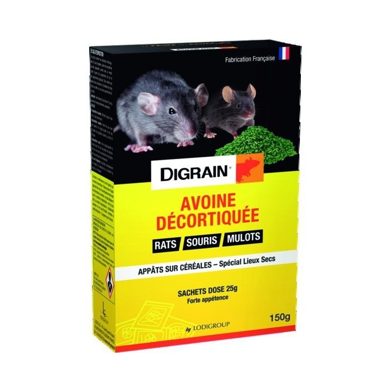 ANTI SOURIS DIGRAIN SOURIS RATS MULOTS AVOINE 150G