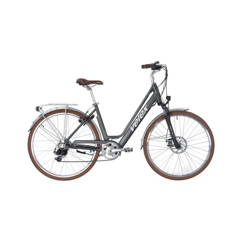 Vélo ville C1 gris 36V batterie intégrée