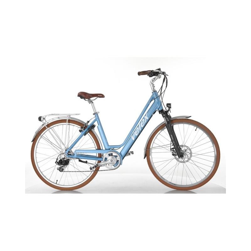 Vélo ville C1 bleu 36V batterie intégrée