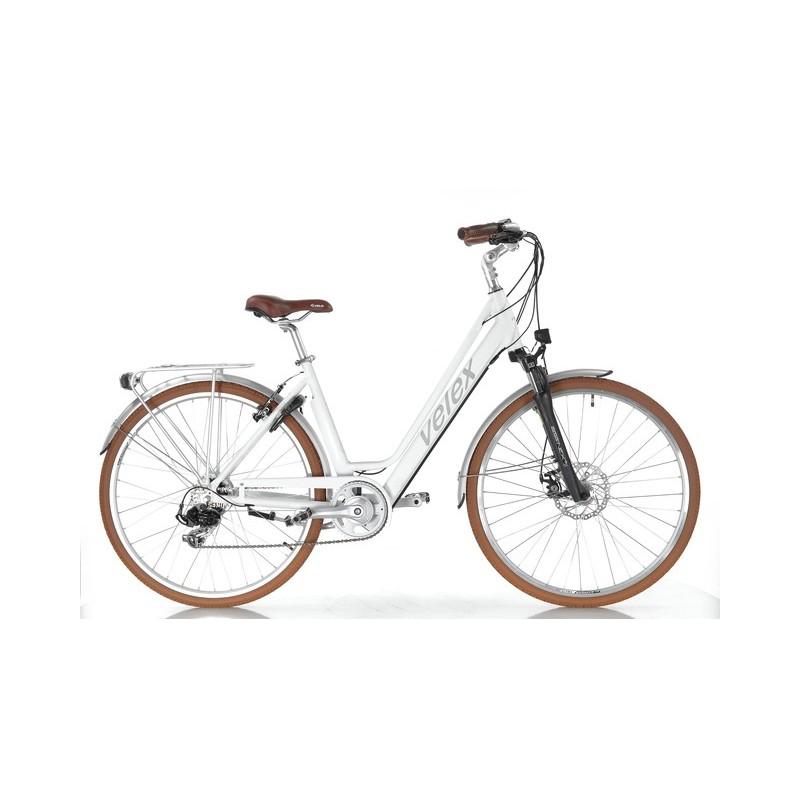 Vélo ville C1 blanc 36V batterie intégrée