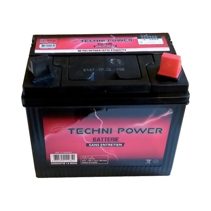Batterie 12v 28ah U1R-11 + droite 195x128x190 sans entretien
