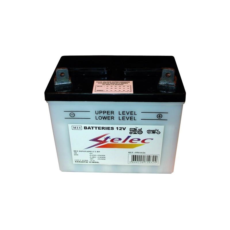 BATTERIE MOTO 12V 24AH / REF.U1-R9