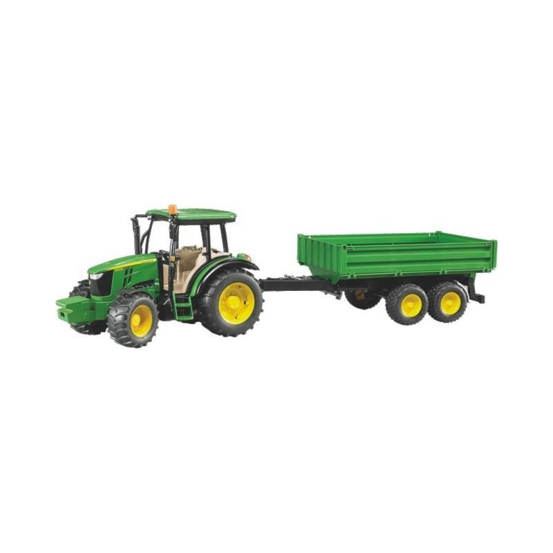 Tracteur John Deere 5115m avec remorque