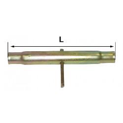 Tube longueur 210 mm M30x3 pour barre de poussée