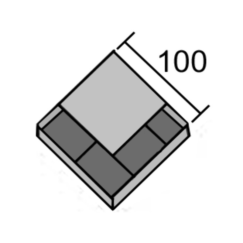 PIECE CRB UNIVERSELLE 100X100X12 / DBLE COEUR