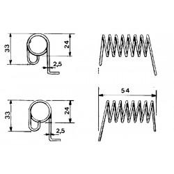 Ressort gauche Pezet adaptable pz099 GW184d