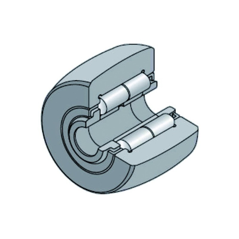 Roulement à galets 20x47x25 mm 91013108 Naud