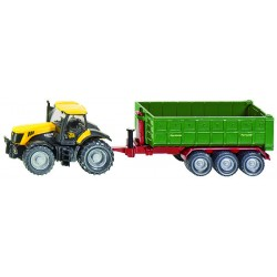 Tracteur jcb+benne s/crémaillère deposab 1/87