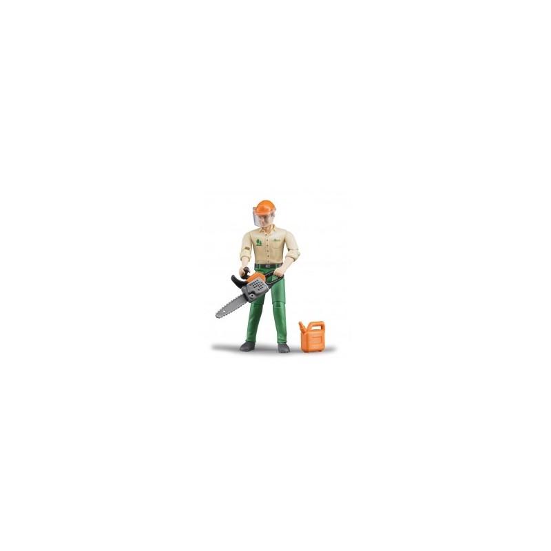 Bucheron avec accessoires forestiers au 1/16ème