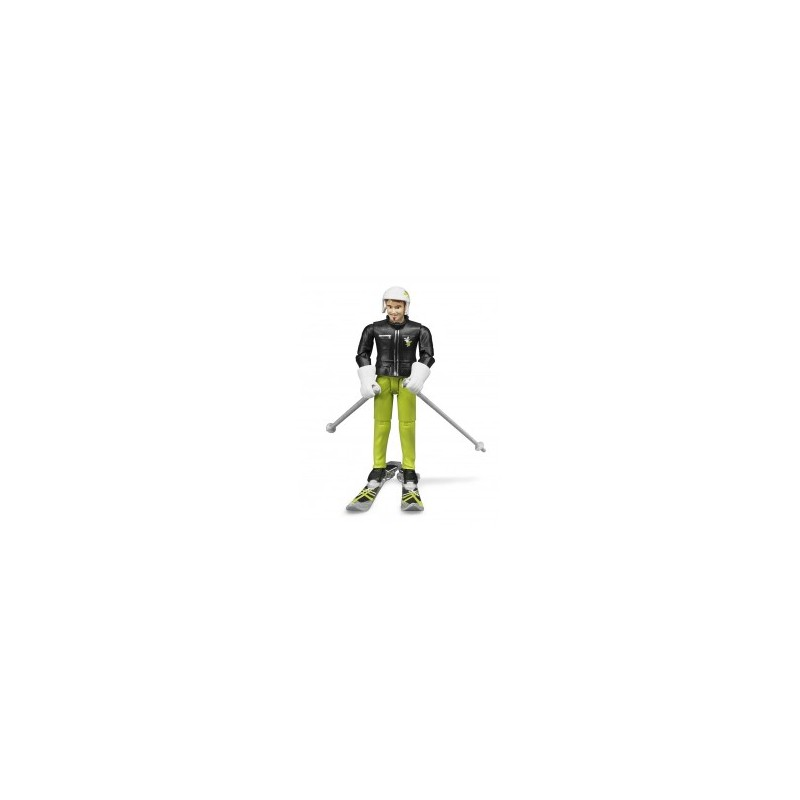 Skieur avec accessoires au 1/16ème