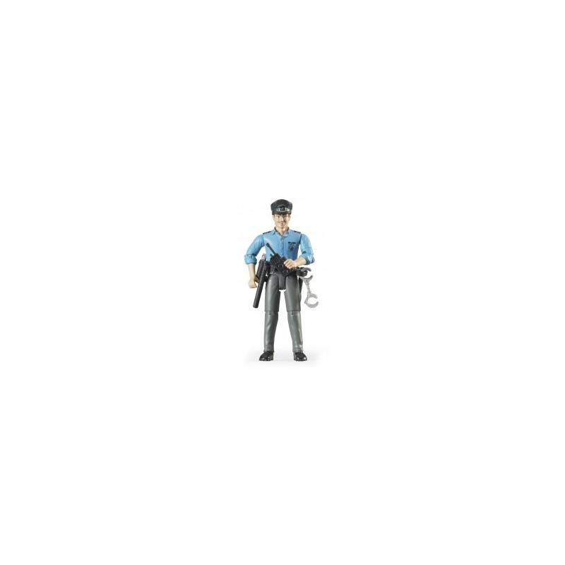 Policier noir avec accessoires au 1/16ème