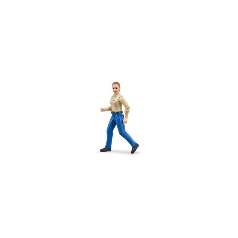 Femme avec jean bleu au 1/16ème
