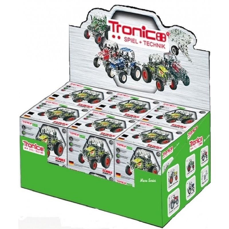 Présentoir 12 tracteurs métal, 5 tracteur différents, à partir de 12 ans au 1/64ème