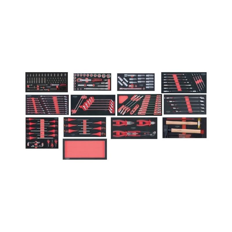 Composition outils 5 tiroirs pour servante 198 pièces