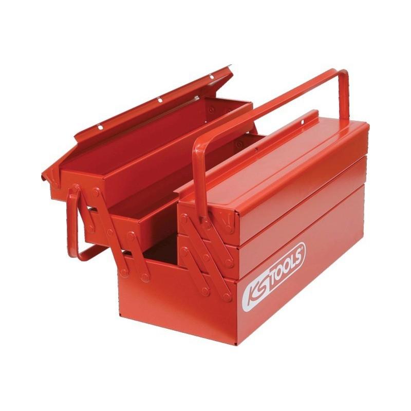 Caisse à outils métallique 5 compartiments 530x210x200 mm
