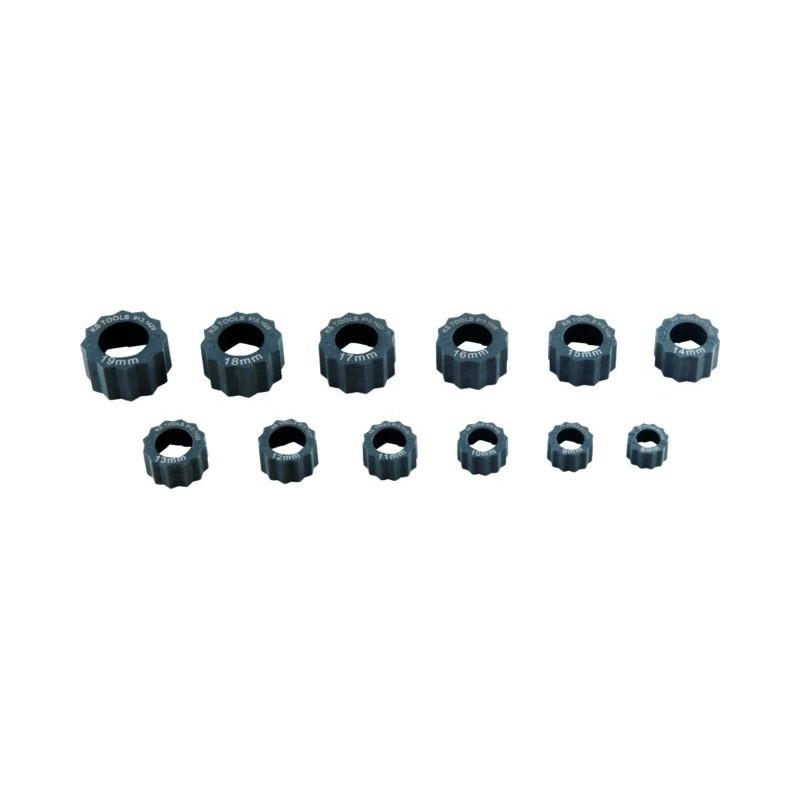 Bagues d'extraction pour écrous abimés 8 à 19 mm 12 pièces